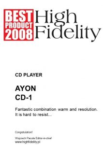 Ayon-CD-1-BestProduct2008_HF