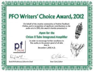 Ayon_Orion_II-2012-PF-award